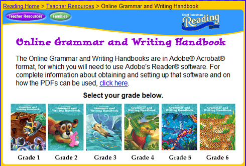 Scott Foresman Online Grammar and Writing Handbooks